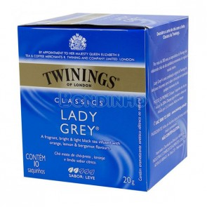 CHÁ TWININGS LADY GREY