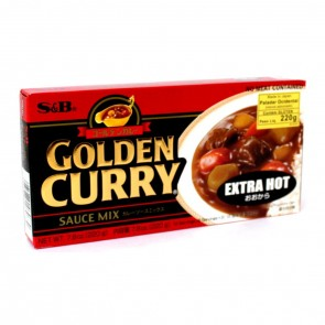 TEMPERO GOLDEN CURRY PICANTE EXTRA FORTE S&B 220g
