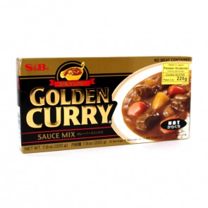TEMPERO GOLDEN CURRY PICANTE FORTE S&B 220g